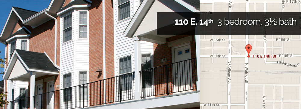 Townhomes for rent in Bloomington, IN