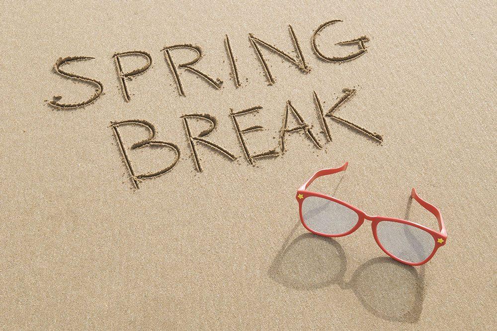 7 tips to prep for spring break words spring break on sand