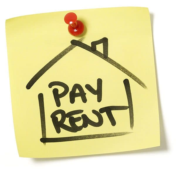 pay rent before vacation
